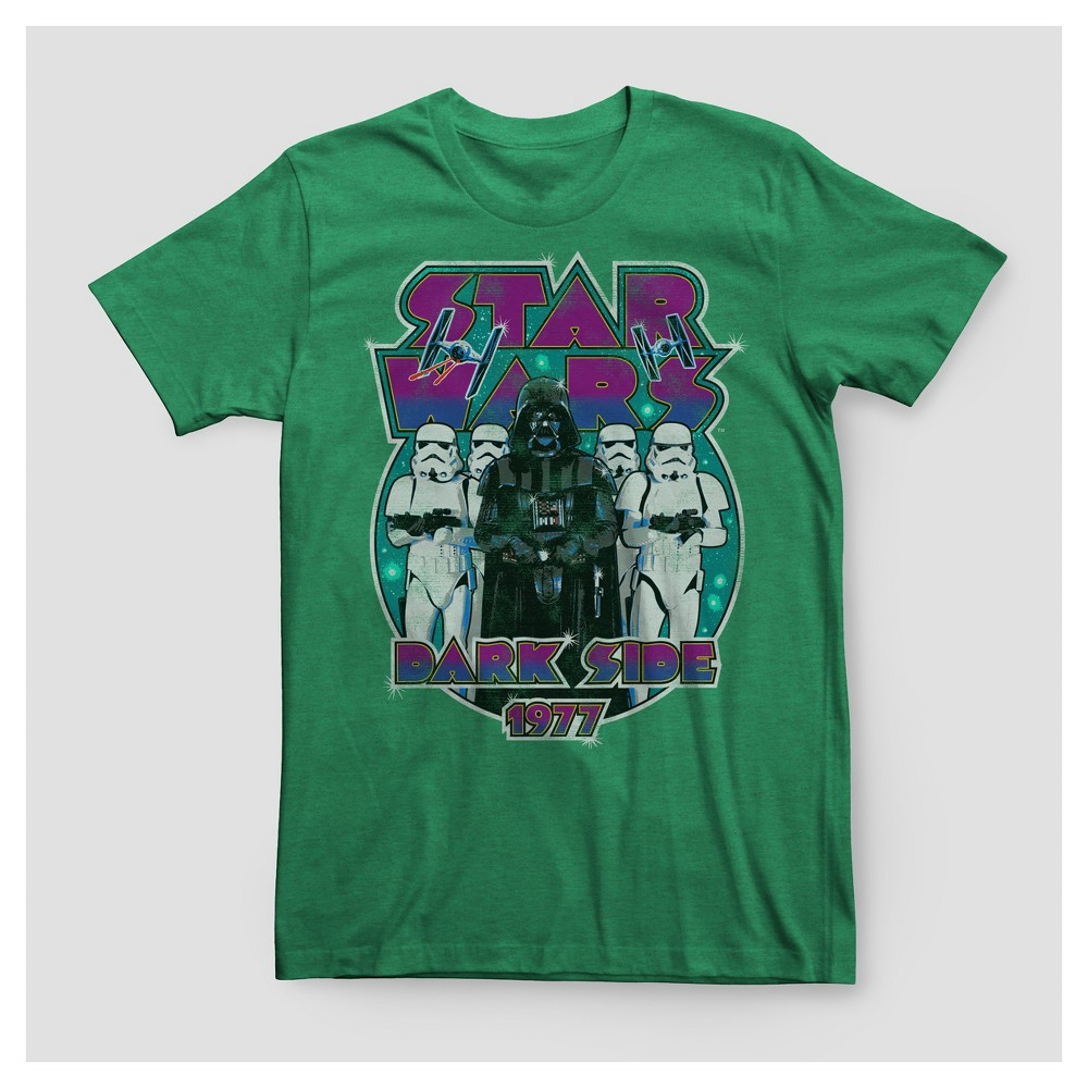 Men's Big & Tall Star Wars Darth Vader Dark Side Since 1977 Graphic T-Shirt - Green 2XBT