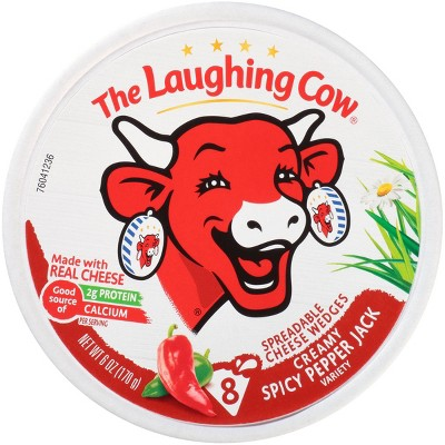 The Laughing Cow Creamy Spicy Pepper Jack Cheese - 6oz