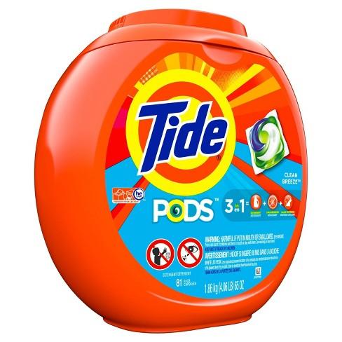 Tide PODS Clean Breeze Laundry Detergent Pacs - 81ct - image 1 of 3