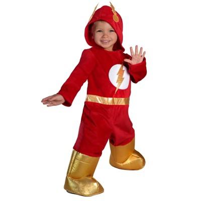 The Flash Premium Toddlersu0027 Jumpsuit Halloween Costume 2T   Princess  Paradise