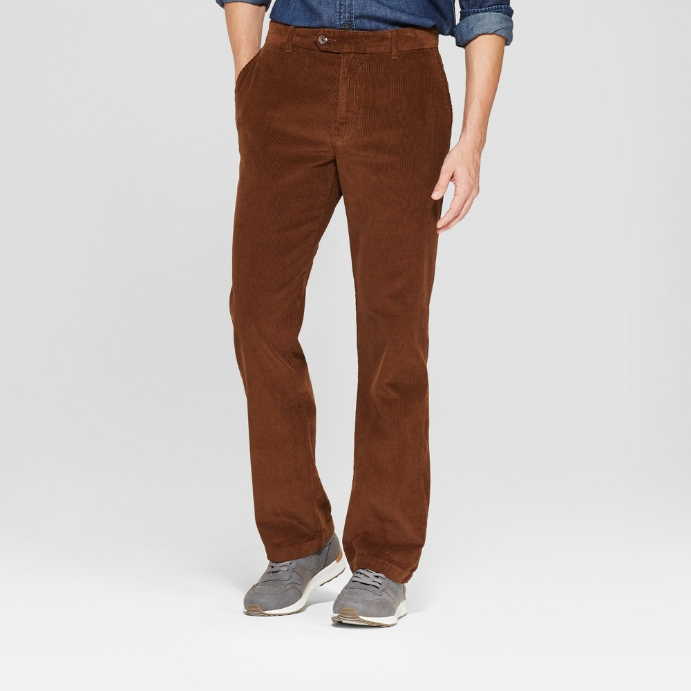 Men's Straight Fit Corduroy Trouser - Goodfellow & Co Stick Brown 38x32