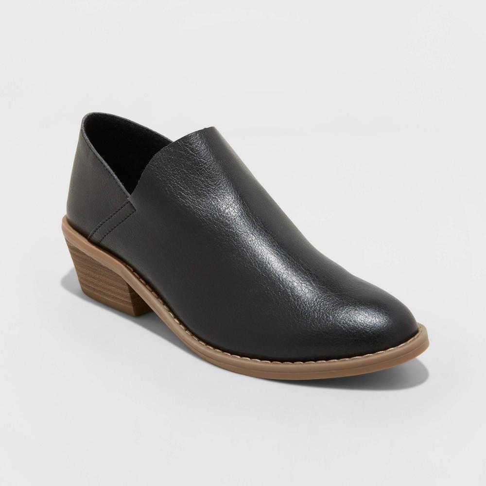 Women 39 S Julissa Heeled Open Boots Universal Thread 8482 Black 12