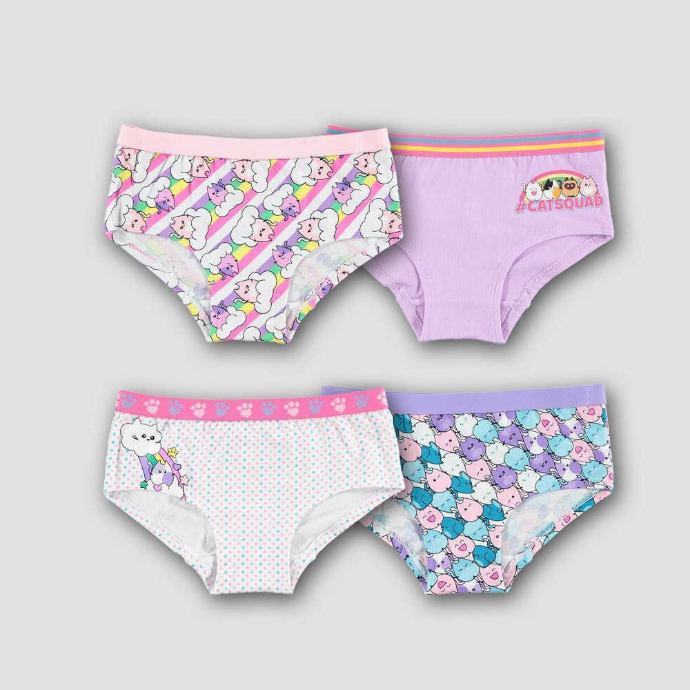 Image of Girls' Meowgical CAT 4pk Hipster Briefs - 10, Girl's, MultiColored