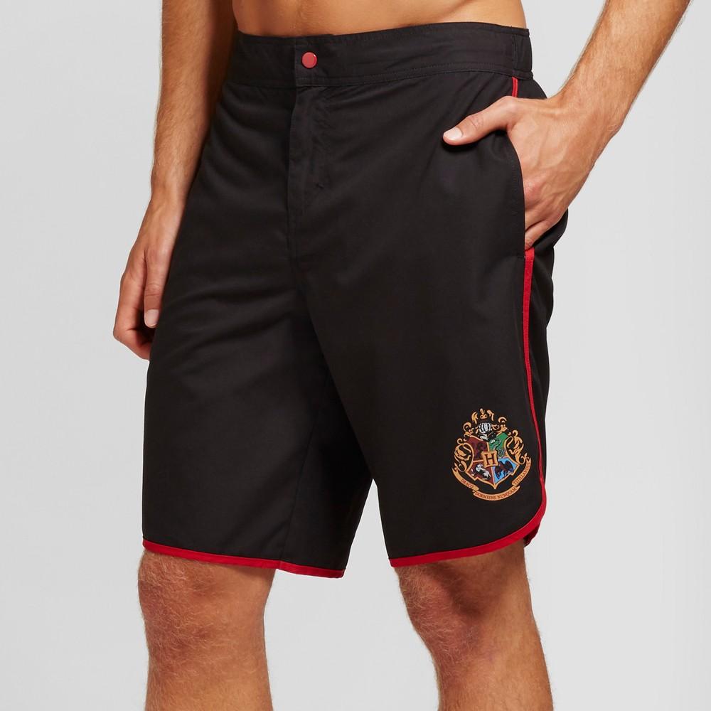 Men's 10 Harry Potter Logo Board Shorts Black XL