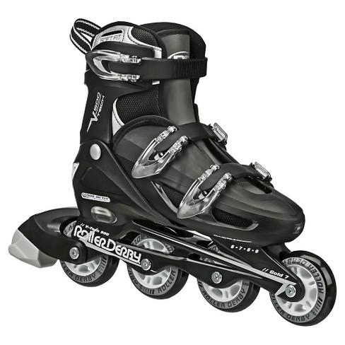 Roller Derby Kid's V-Tech 500 Adjustable Inline Skates - Black/White (6-9) - image 1 of 3