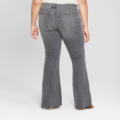 2e1d951d3b00e Women s Plus Size Flare Jeans - Universal Thread™ Gray 14W