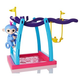 Fingerlings Monkey with Monkey Bars & Hammock Interactive Playset