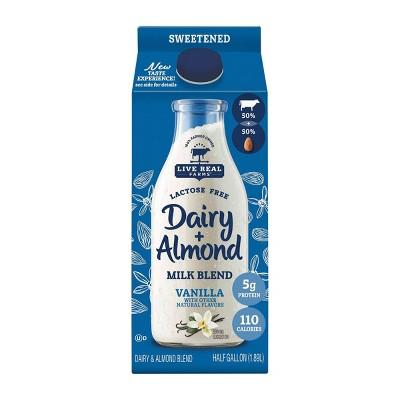 Live Real Farms Dairy Vanilla Sweetened AlmondMilk Blend - 0.5gal