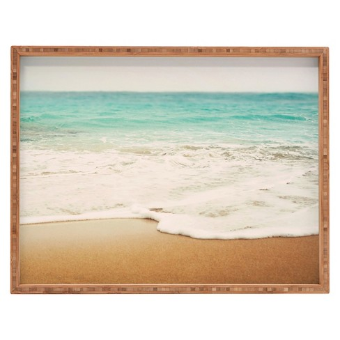 Bree Madden Ombre Beach Rectangle Tray Blue Deny Designs Target