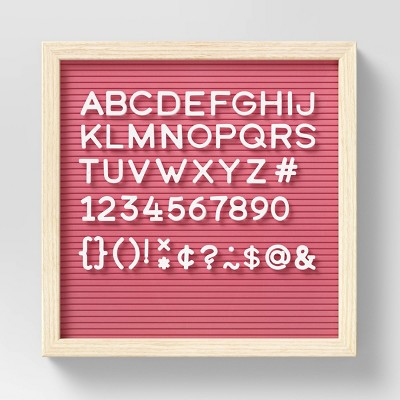 """12"""" x 12"""" Letter Board with Letters Coral - Room Essentials™"""