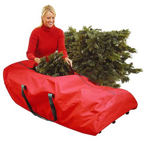 Christmas Tree Storage Bag.Northlight 56 Heavy Duty Large Red Rolling Artificial Christmas Tree Storage Bag For 7 5 Trees