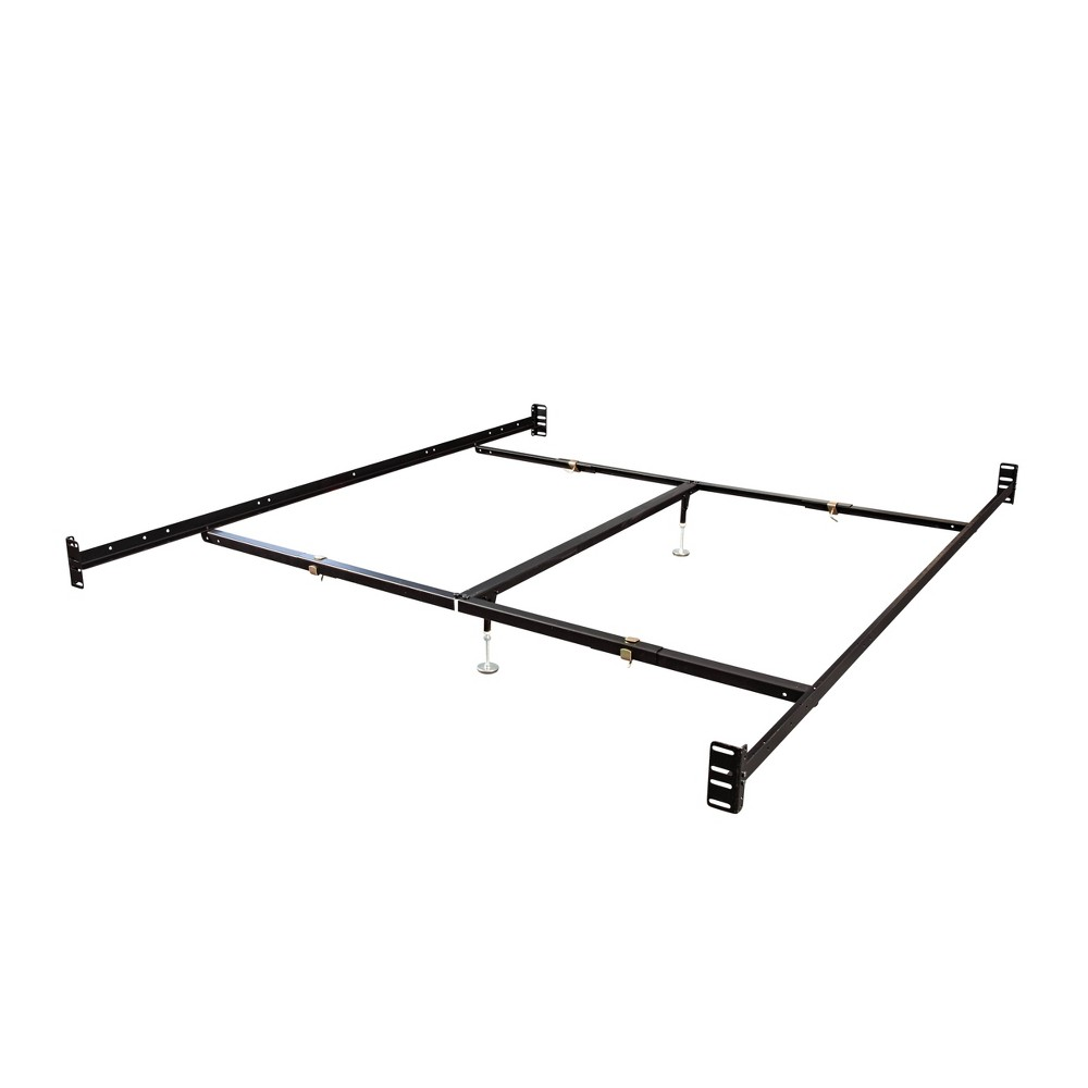 Queen King Bolt On Rails Brown Hollywood Bed Frame