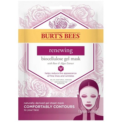 Burts Bees Renewing Biocellulose Gel Mask - 1ct