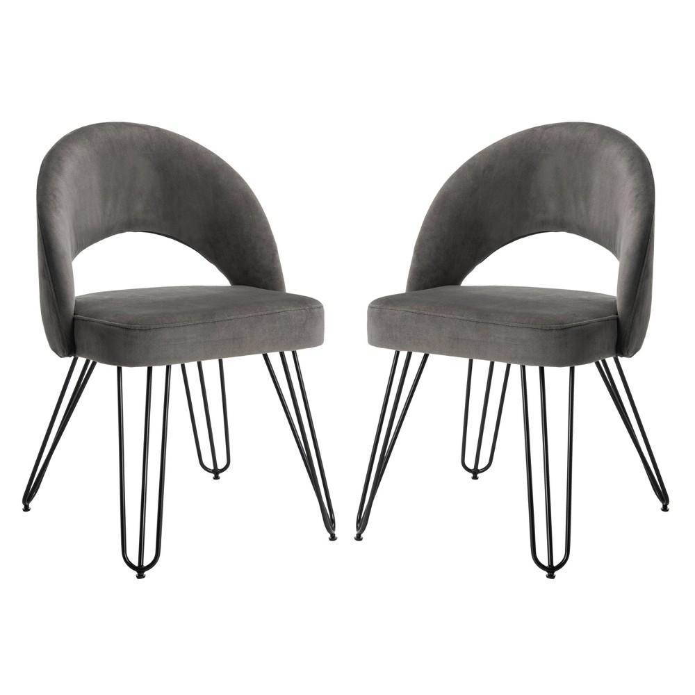 Set of 2 Dining Chairs Black - Safavieh