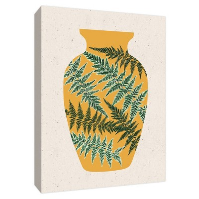 Yellow Vase Gallery Wrapped Canvas - PTM Images