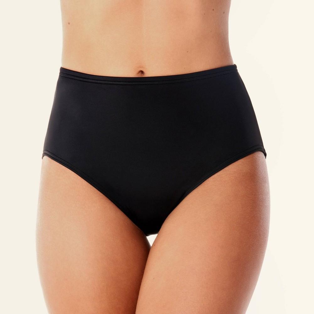Dreamsuit by Miracle Brands Women's Slimming Control High Waist Bikini Bottom - Black 12