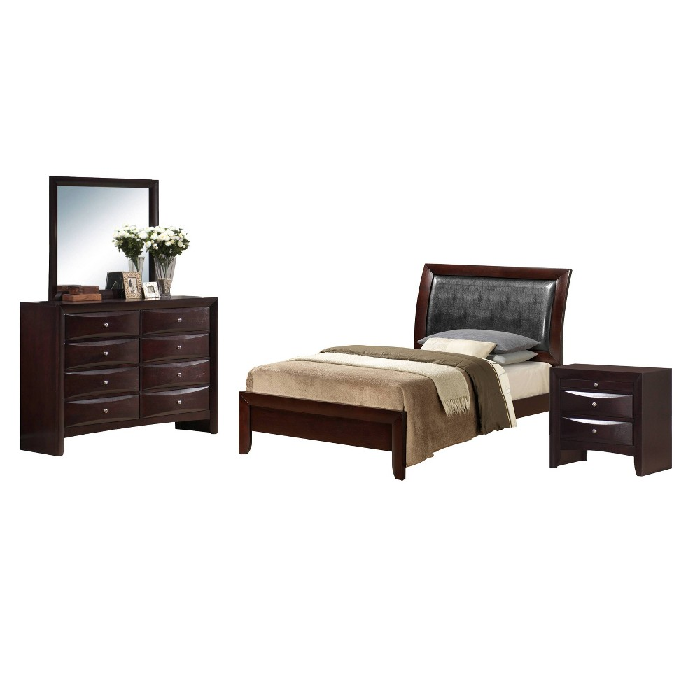 4pc Full Madison Panel Bedroom Set Mahogany - Picket House Furnishings, Brown