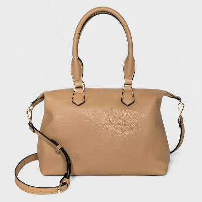 Soft Mid Size Satchel Handbag - A New Day™