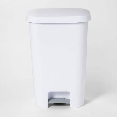 11.9gal Step-On Waste Basket White - Room Essentials™