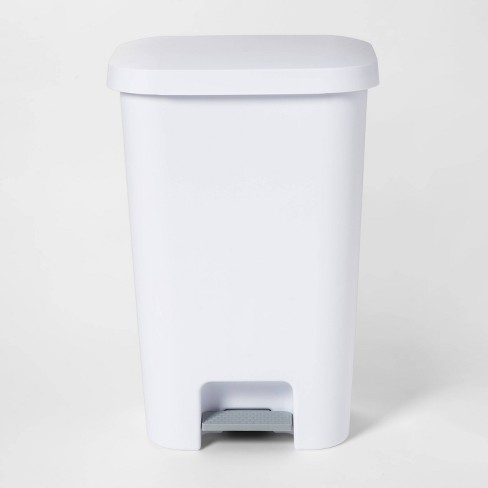 11.9gal Step Trash Can White - Room Essentials™ - image 1 of 4