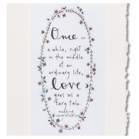 Papyrus Fairytale Wedding Congratulations Card Target