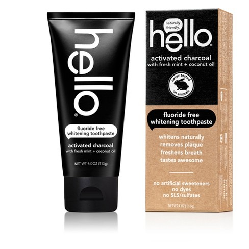 Hello Activated Charcoal Whitening Toothpaste 4oz Target