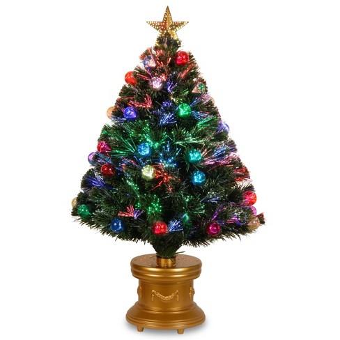 3ft Led Fiber Optic Fireworks Tree With Ball Ornaments National Tree Company