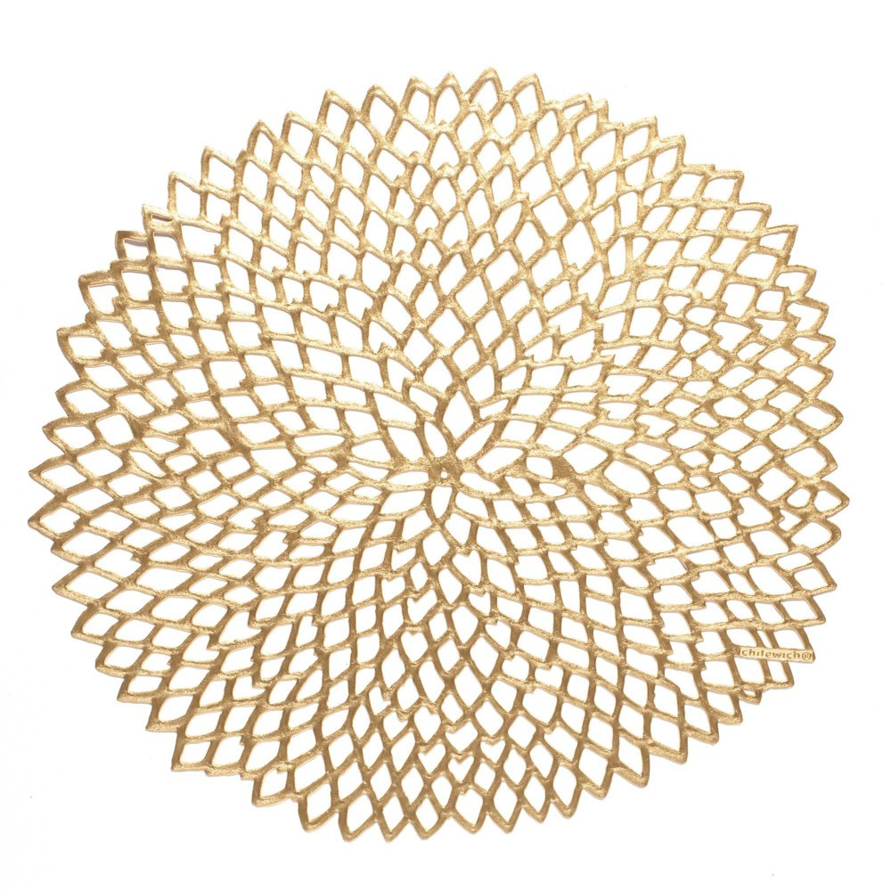 Coupons 4pk Pressed Dahlia Placemats Brass - Chilewich