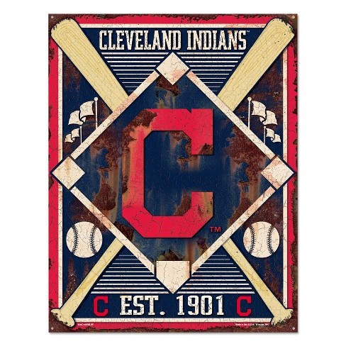 MLB Cleveland Indians Metal Sign - image 1 of 1