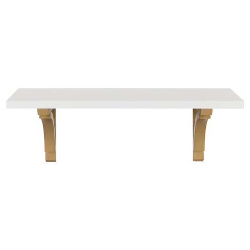 Wall Shelf - White/Gold - image 1 of 4