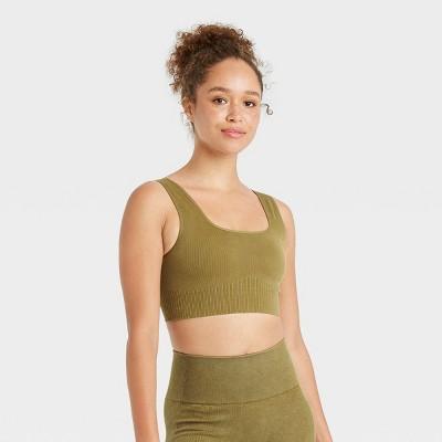 Women's Ribbed Seamless Bra - JoyLab™