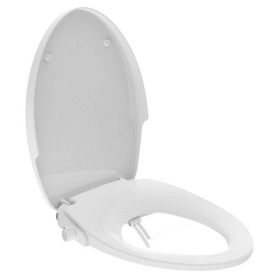 Night Glow Non-Electric Double Nozzle Spray Bidet Seat For Elongated Toilet White - evekare