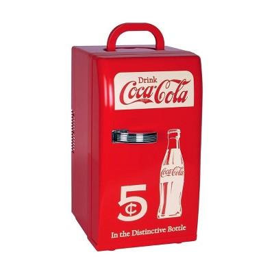 Coca-Cola 18-Can AC/DC Retro Electric Cooler - Red