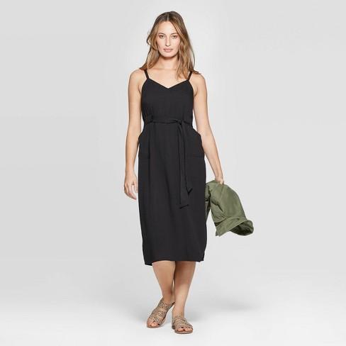 Women's Sleeveless V-Neck Belted Midi Dress - Universal Thread™ - image 1 of 3