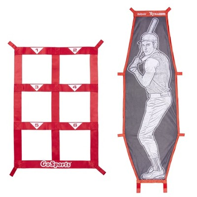 GoSports BASB-SZ-02 Xtraman Batter Target & Strike Zone Baseball & Softball Pitching Accuracy Training Aid Kit (Targets Only)