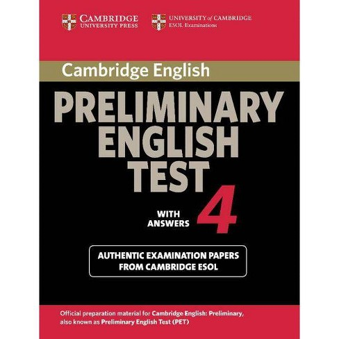 Cambridge Preliminary English Test 4 Student's Book With