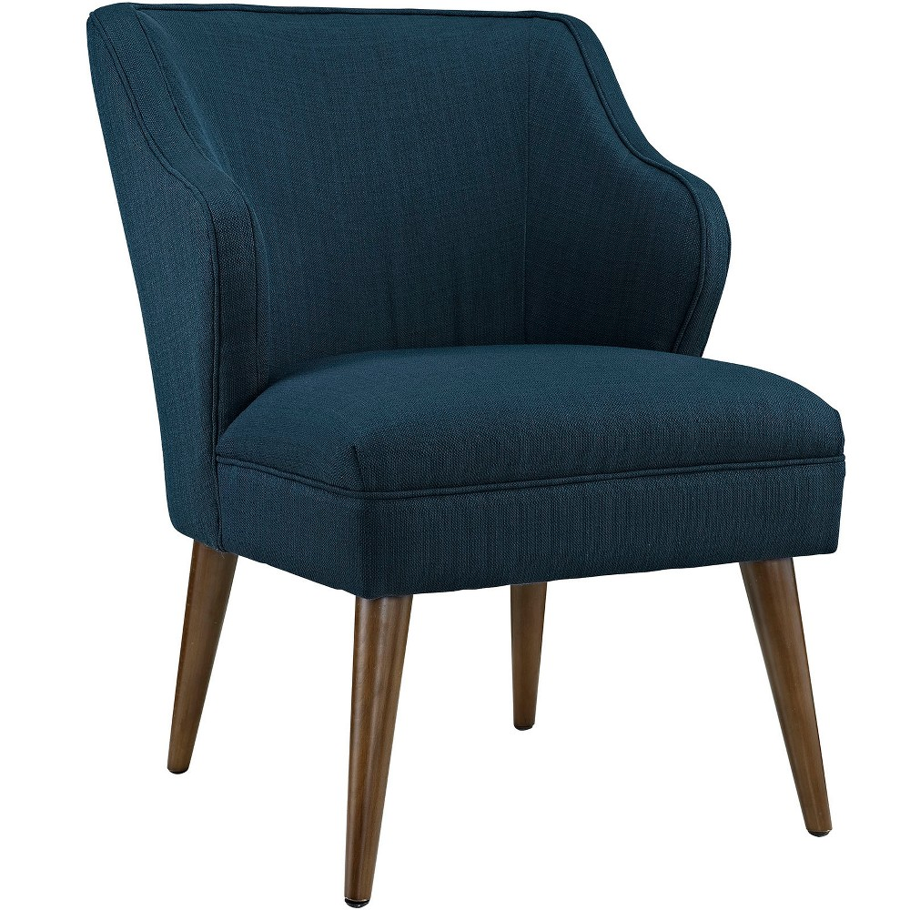 Swell Upholstered Fabric Armchair Azure (Blue) - Modway