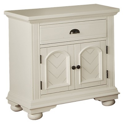 Aiden Cottage 1-Drawer Nightstand with Cabinet Door Chestnut- Picket House Furnishings
