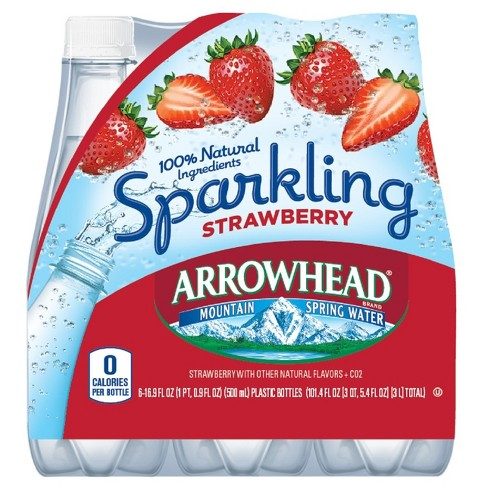 Arrowhead Sparkling Strawberry - 6pk/.5 L Bottle - image 1 of 1