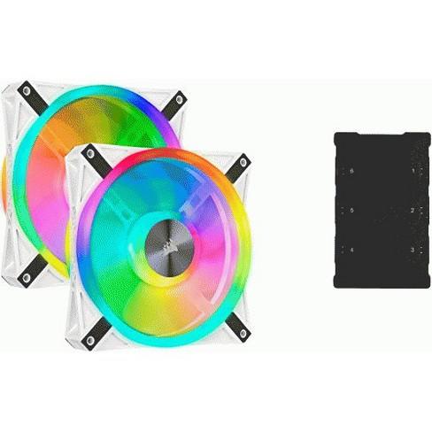 CORSAIR QL Series, iCUE QL140 RGB, 140mm RGB LED PWM White Fan, Dual Fan Kit with Lighting Node CORE - image 1 of 1