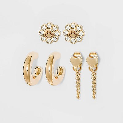 SUGARFIX by BaubleBar Gold Micro Earring Set - Gold