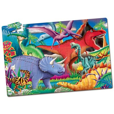 The Learning Journey Puzzle Doubles! Glow in the Dark! Dinos 100 pcs