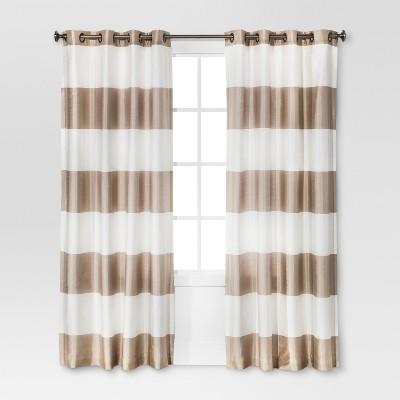 Bold Curtain Panel Tan (54 x95'')- Threshold™