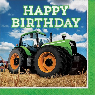48ct Tractor Time Birthday Napkins