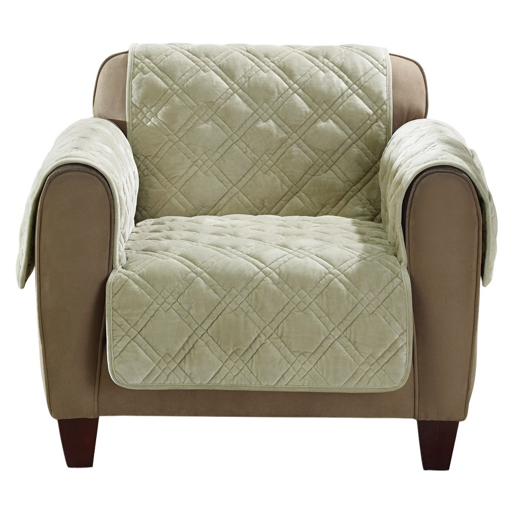 Sage (Green) Plush Comfort Chair Furniture Cover - Sure Fit