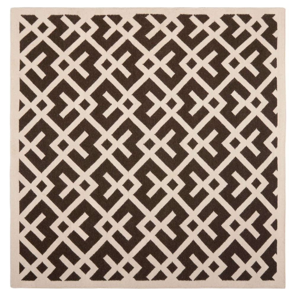 Tangier Dhurry Area Rug - Brown/Ivory (6' Square) - Safavieh