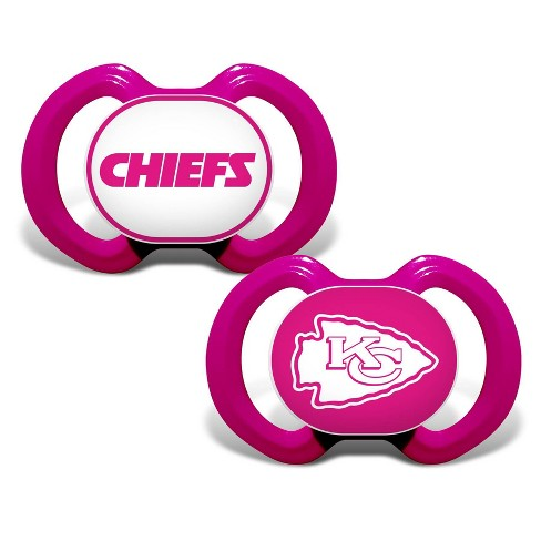 new product 87da9 7ed3c NFL Kansas City Chiefs Pink Pacifiers 2pk