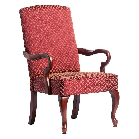Derby Red Gooseneck Arm Chair in Cherry - Comfort Pointe - image 1 of 1
