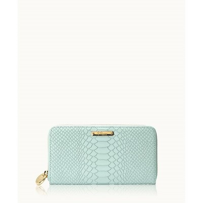 GiGi New York Blue Large Zip Wallet