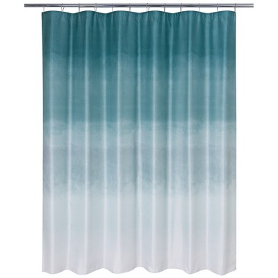 Metallic Ombre Glimmer Shower Curtain Teal - Allure Home Creations